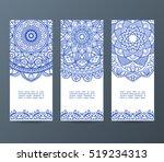 set of flyers  brochures ... | Shutterstock .eps vector #519234313