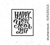 happy new year 2017 handmade... | Shutterstock .eps vector #519235213