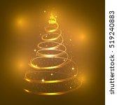 christmas lights background. | Shutterstock .eps vector #519240883
