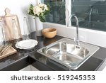 kitchen sink and faucet | Shutterstock . vector #519245353