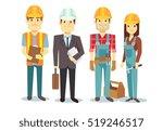 construction workers team... | Shutterstock . vector #519246517