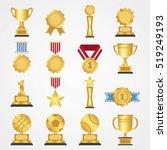 award icon collection design... | Shutterstock .eps vector #519249193