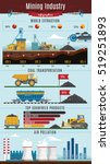 colorful mining infographics... | Shutterstock .eps vector #519251893