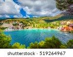 assos beach in kefalonia  greece | Shutterstock . vector #519264967