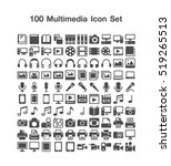 100 multimedia icon set