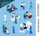doctor and patient isometric... | Shutterstock . vector #519270853