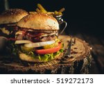 delicious homemade hamburger...   Shutterstock . vector #519272173