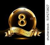 8 years golden anniversary logo ...   Shutterstock .eps vector #519272827