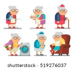 household granny old lady... | Shutterstock .eps vector #519276037
