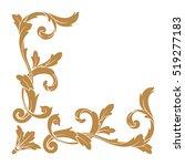gold vintage baroque corner... | Shutterstock .eps vector #519277183