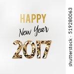 2017 new year card | Shutterstock .eps vector #519280063