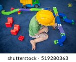 little child boy in helmet... | Shutterstock . vector #519280363