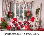 beautiful holdiay decorated... | Shutterstock . vector #519282877