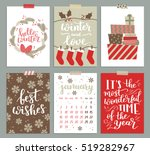 vector collection of christmas... | Shutterstock .eps vector #519282967