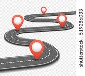 car road  street  highway... | Shutterstock . vector #519286033