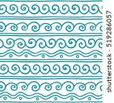 vector greek wave and meander... | Shutterstock .eps vector #519286057