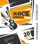live music poster template.... | Shutterstock . vector #519286183