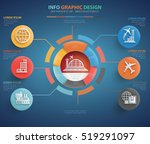 airport and logistic info... | Shutterstock .eps vector #519291097