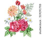 Red Roses  Orange Dahlias ...