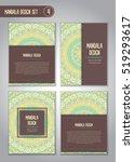 flower mandala design set....   Shutterstock .eps vector #519293617