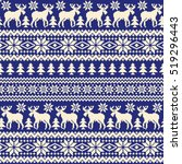 nordic pattern illustration | Shutterstock .eps vector #519296443