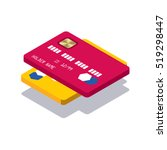 icon isometric credit card | Shutterstock .eps vector #519298447