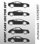 vector sport car icon set | Shutterstock .eps vector #519298597