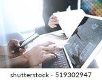 two colleague web designer...   Shutterstock . vector #519302947