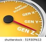 generation x y z speedometer... | Shutterstock . vector #519309613