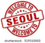 welcome to seoul. stamp. | Shutterstock .eps vector #519310003