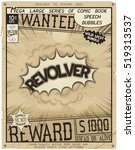 revolver. retro poster in style ... | Shutterstock .eps vector #519313537