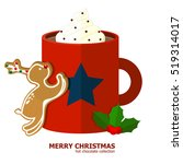cup of hot chocolate with... | Shutterstock .eps vector #519314017