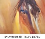 Horse Glare  Watercolor...