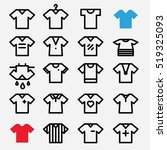 t shirt icons set. football... | Shutterstock .eps vector #519325093
