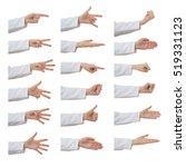 set of doctor female hand... | Shutterstock . vector #519331123