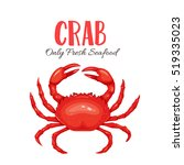 crab vector illustration in... | Shutterstock .eps vector #519335023