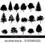 Silhouette Shadow Black Tree O...