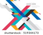 vector of modern abstract... | Shutterstock .eps vector #519344173