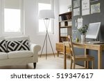 very bright modern flat with... | Shutterstock . vector #519347617