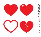 set of heart vector | Shutterstock .eps vector #519350263