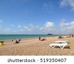beach background with beach... | Shutterstock . vector #519350407