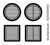 ventilation grille black symbol ... | Shutterstock .eps vector #519350443