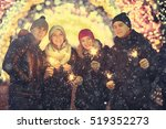 group of young people with... | Shutterstock . vector #519352273