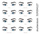 types of eye makeup. eyeliner... | Shutterstock .eps vector #519354127