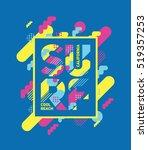 vector illustration. cool... | Shutterstock .eps vector #519357253