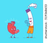 smiling heart fighting or...   Shutterstock .eps vector #519368653
