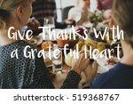 thanksgiving blessing... | Shutterstock . vector #519368767