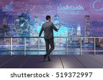 businessman in stock trading... | Shutterstock . vector #519372997