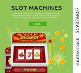 slot machine web banner... | Shutterstock .eps vector #519376807