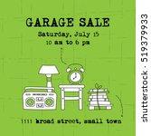garage sale  household used... | Shutterstock .eps vector #519379933